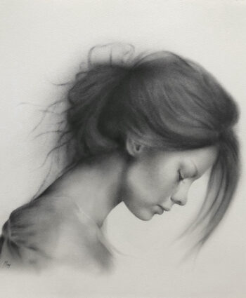 drawing portrait by Damir May